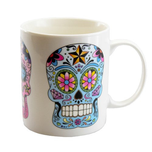 Sugar Skull Bone China Mug (pack of 6 pcs)