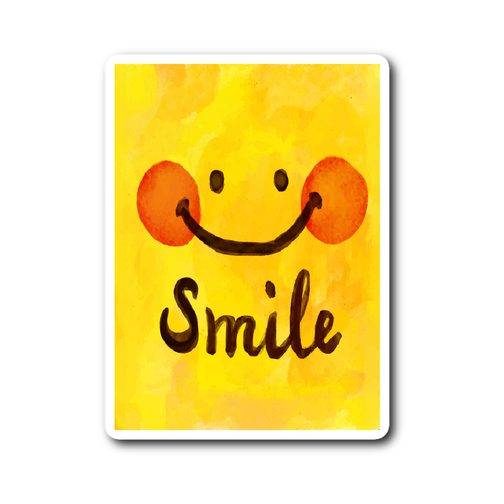 Watercolor Smile Motivational Sticker