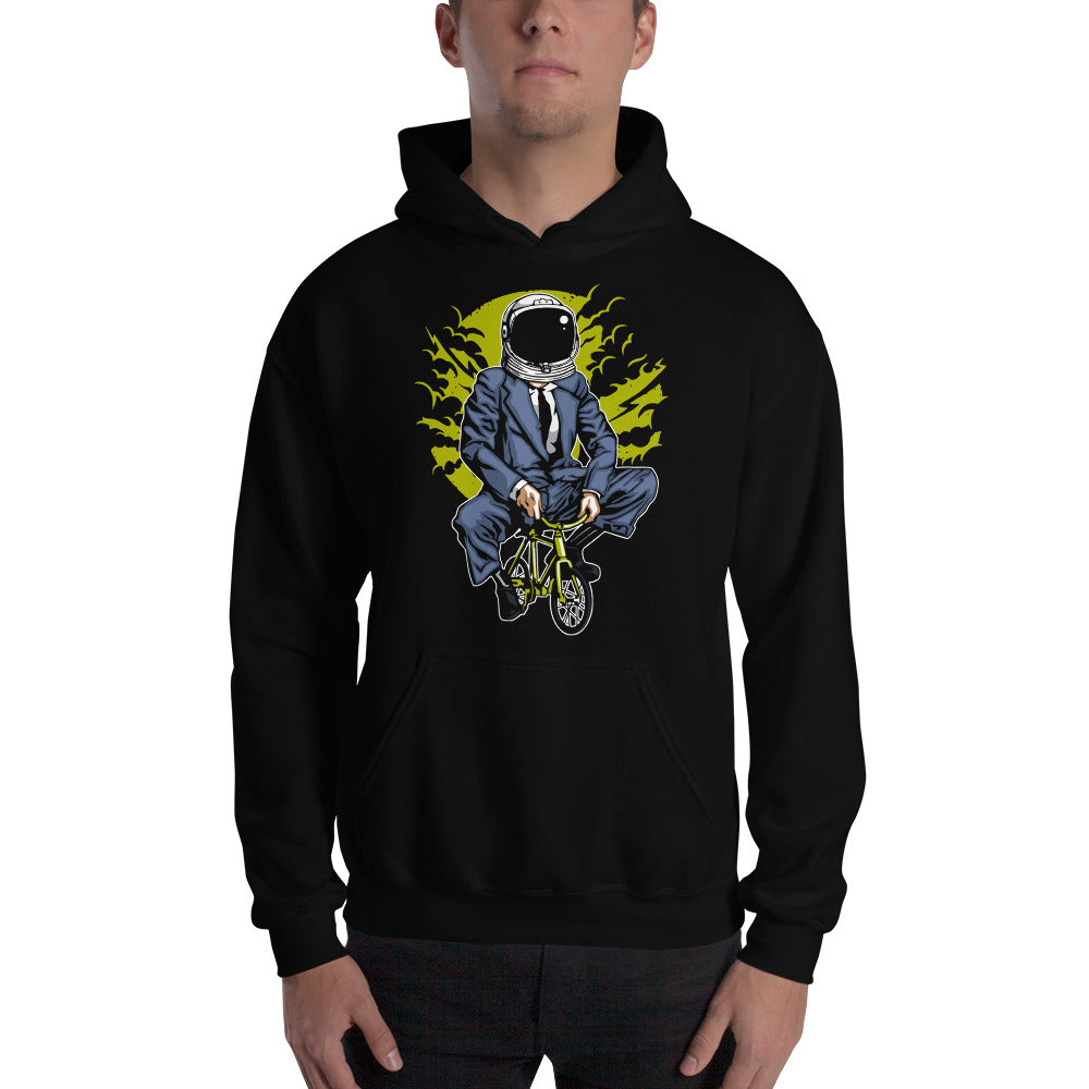 Bike to the Moon Astronaut Wants to Play a Game Hoodie