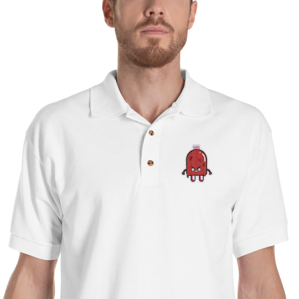 Angry Popsicle Men's Embroidered Polo Shirt |  | Witty Novelty