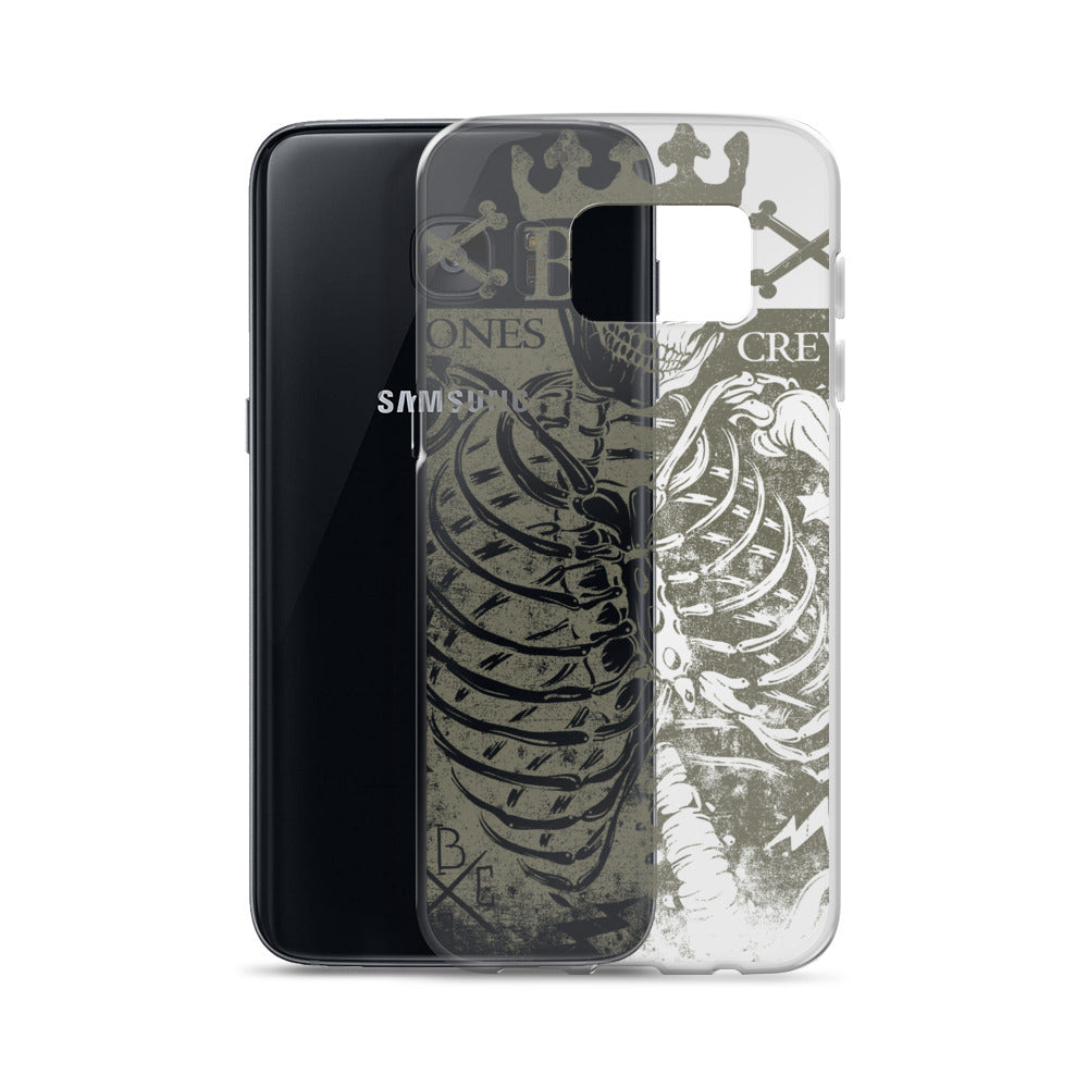 Bad Bones Crew Transparent Samsung Case
