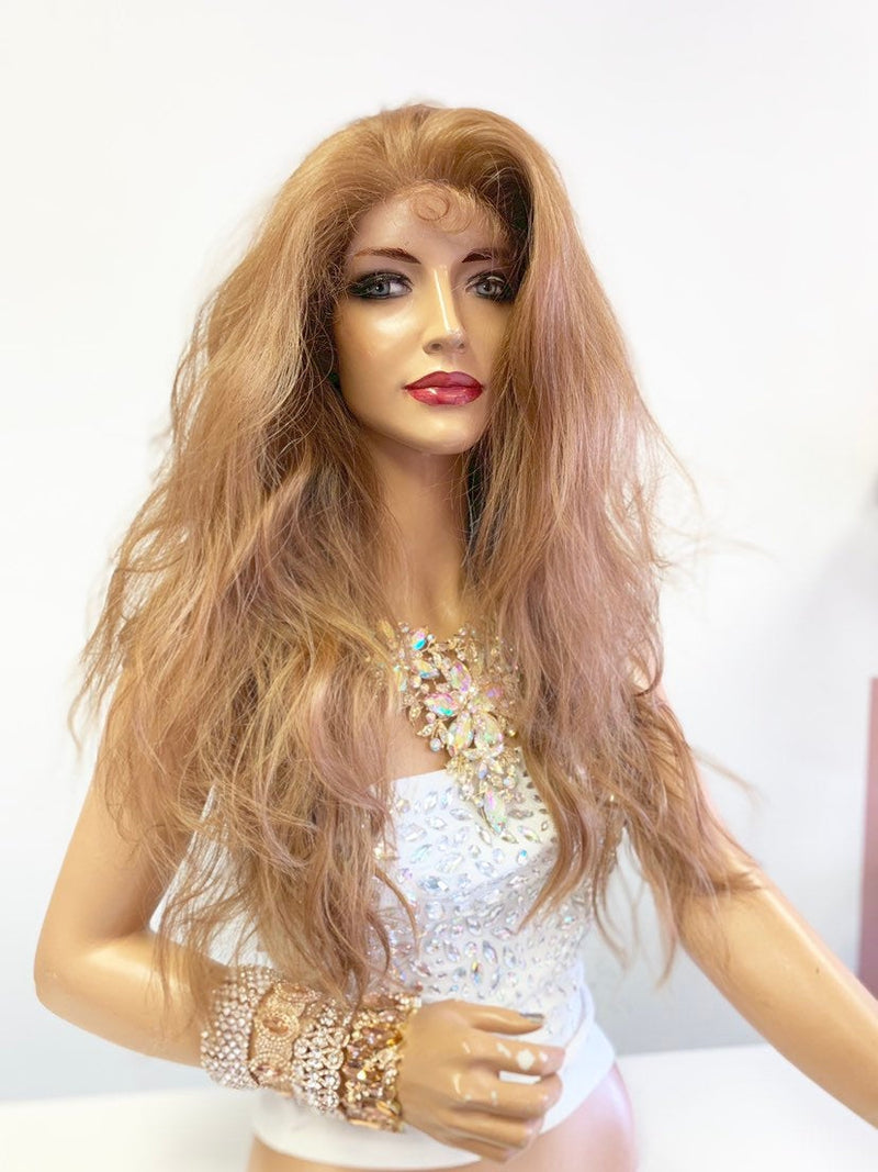 Dark Blonde SWISS Lace Front Wig 20