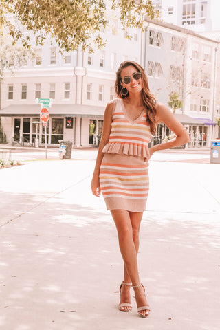 Lilly Skirt in Coral