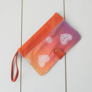 Lenny Lamb Handmade Leather Nappy Wallet - Rainbow Lace Light