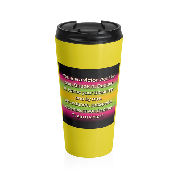 A Victor Stainless Steel Travel Mug