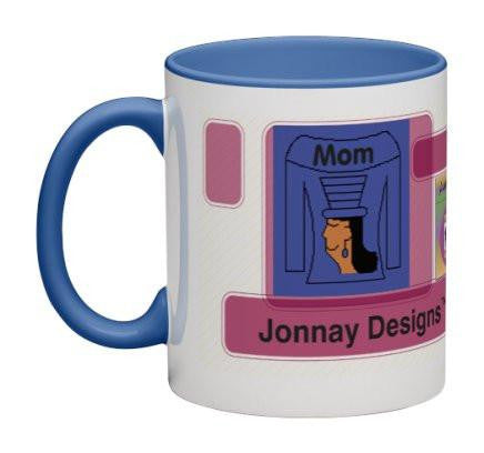 Mauve/Blue Women Heritage Cup© - 11 oz-Heritage Cups©-Jonnay Designs, LLC-Jonnay Designs™