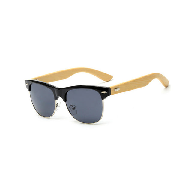Black Bamboo Full Frame Sunglasses Life In Slow Motion