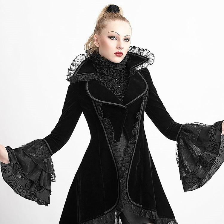 Extreme Gothic Broadcloth Lace Coat