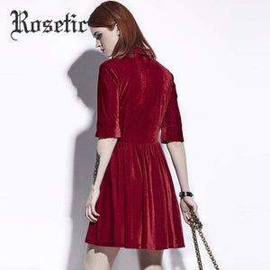 Dark Red A-Line Casual Dress