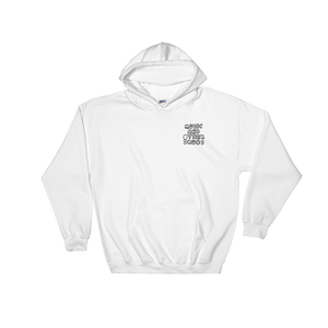 Music and Other Drugs Embroidered White Hoodie