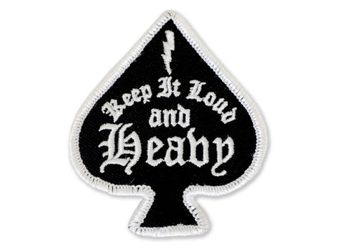Hallow Collective - Keep It Loud & Heavy Embroidered Patch