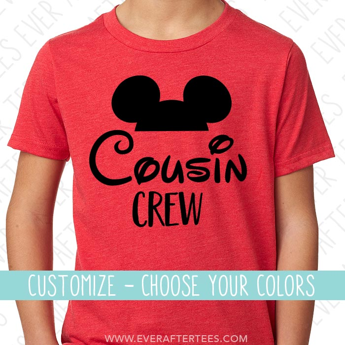 Cousin Crew Mouse Ear T Shirts Mickey Mouse Cousin Tees Matching Shirts For The Whole Family