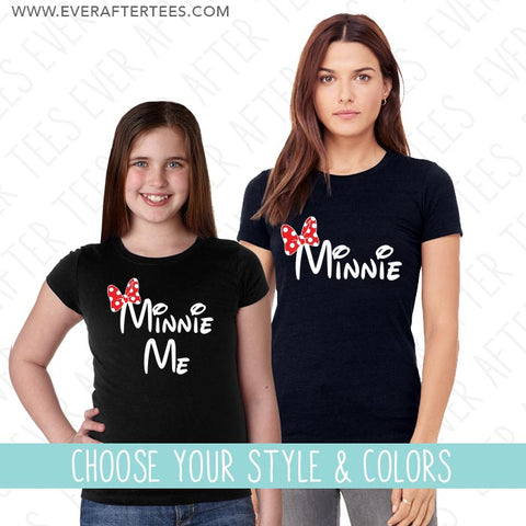 Minnie Minnie Me t-shirt. Mommy and Me matching t-shirts.