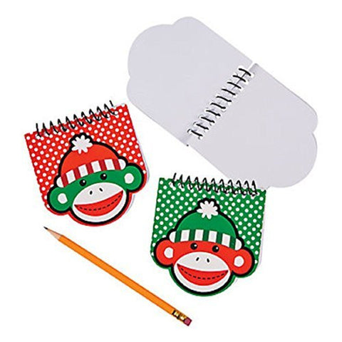 Sock Monkey Notepads - 12 Pack