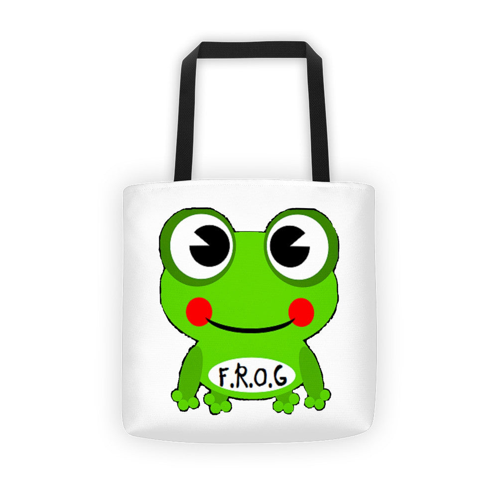 Cute Fully Rely On God Frog Tote bag