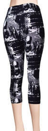 Printed Capris Leggings - Urban Goth