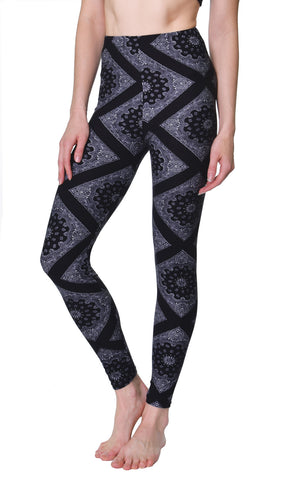 Printed Brushed Leggings - Underwater Vice