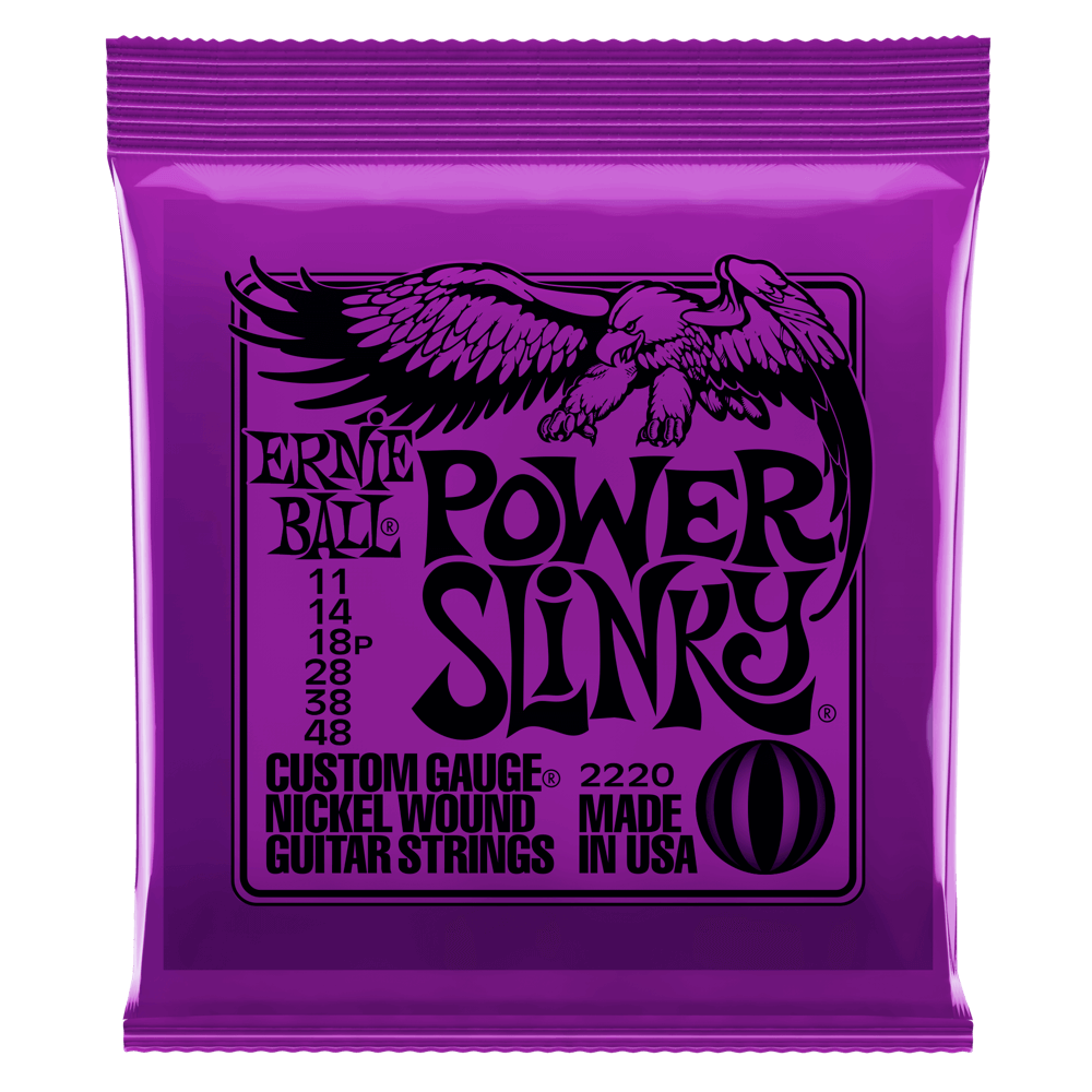 ERNIE BALL 2220 POWER SLINKY NICKEL WOUND SET, .011 - .048 | Zoso Music