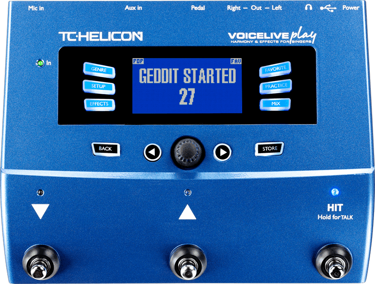 TC HELICON VOICELIVE PLAY 3-Button Vocal Effects Stompbox with Looping | Zoso Music