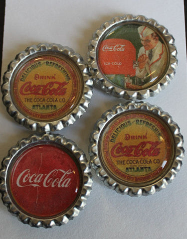 Classic Coke Flat Bottle Cap Super Strong Magnets