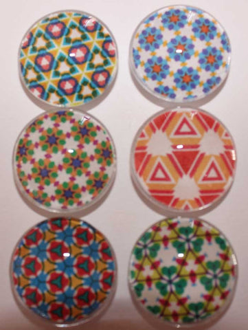 Bright Kaleidoscope Glass Gem Super Strong Magnets