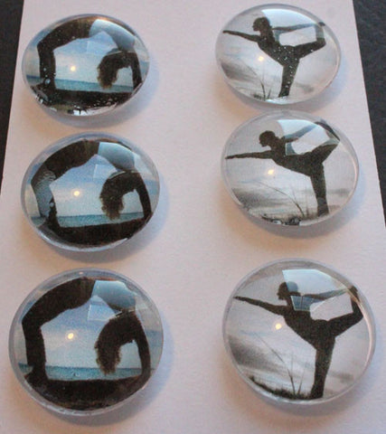 All About Yoga Glass Gem Super Strong Magnets