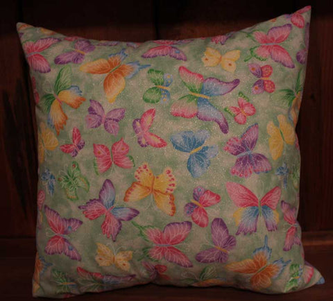 Bright Butterflies Cotton Throw Pillow Cover