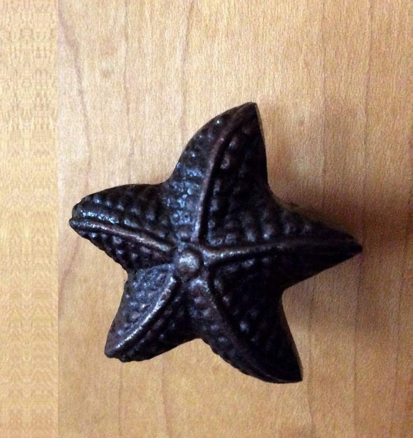 Starfish Nautical Coastal Cabinet Knobs Drawer Pulls Ocean Sea Star-Dwyer Home Collection