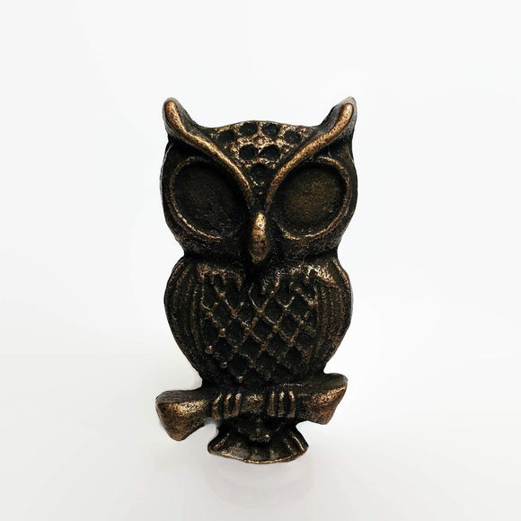 Wise Old Owl Cabinet Knobs Furniture Drawer Pulls Cast Iron-Dwyer Home Collection