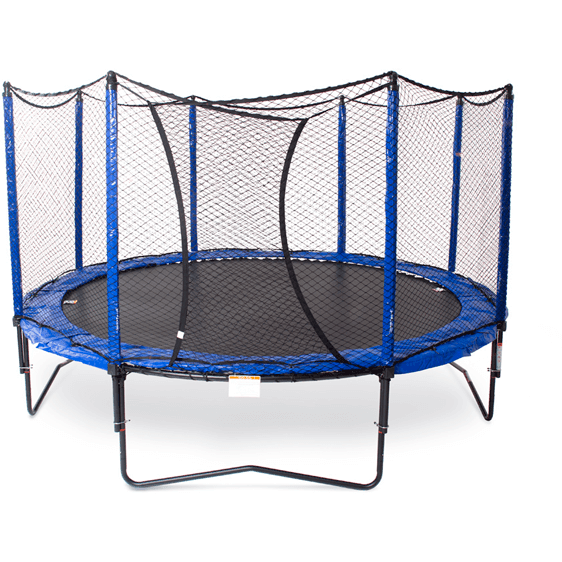 12' StagedBounce Round Trampoline with Enclosure-JumpSport-YardKid