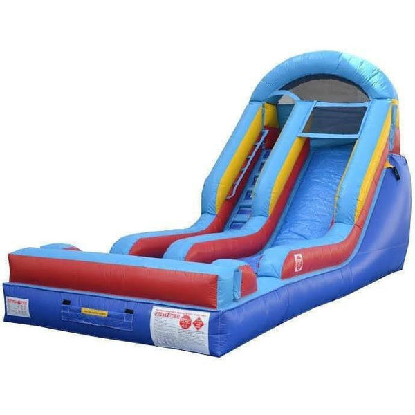 13' Commercial Arch Wet & Dry Slide - Primary Colors-Happy Jump-YardKid