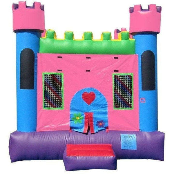 Commercial Pink Castle 1 Bounce House-Happy Jump-YardKid