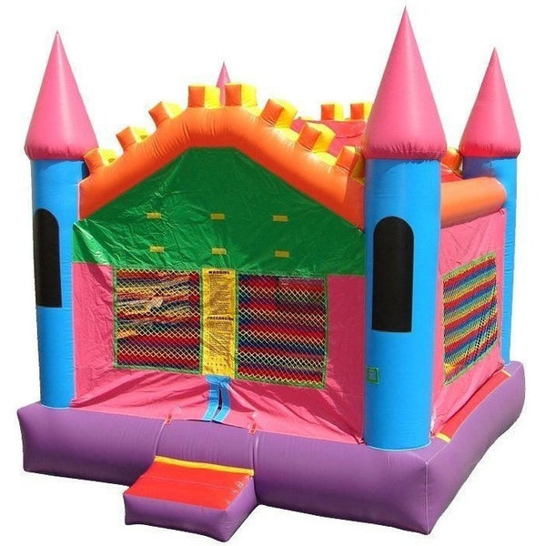 Commercial Pink Castle 3 Bounce House-Happy Jump-YardKid