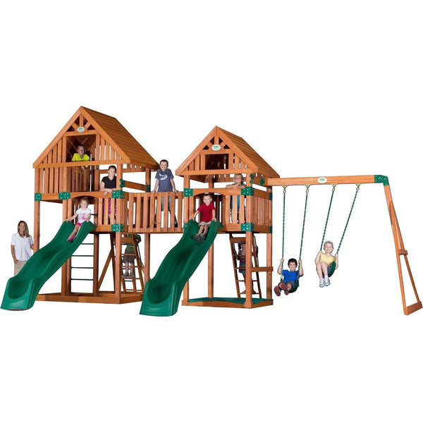 Vista Wooden Swing Set-Backyard Discovery-YardKid