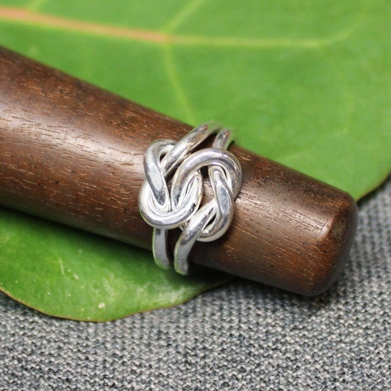Sterling silver friendship knot ring.