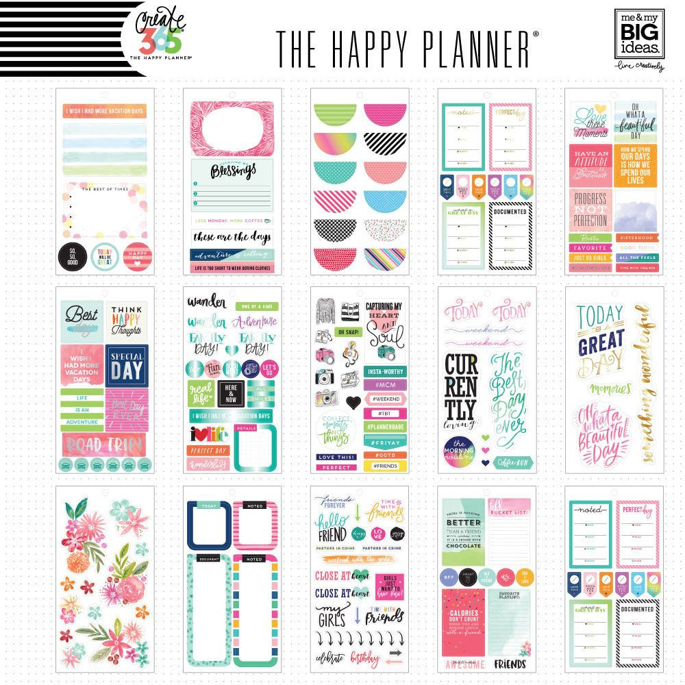 PLANNER STICKER BOOK - MEMORY PLANNING - HAPPY PLANNER