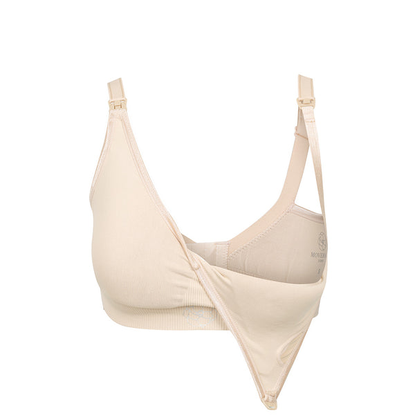 MOVEMAMÍ - 'SERENA' Seamless Nursing Bra - French Cream - MOVEMAMI - Best Maternity Activewear
