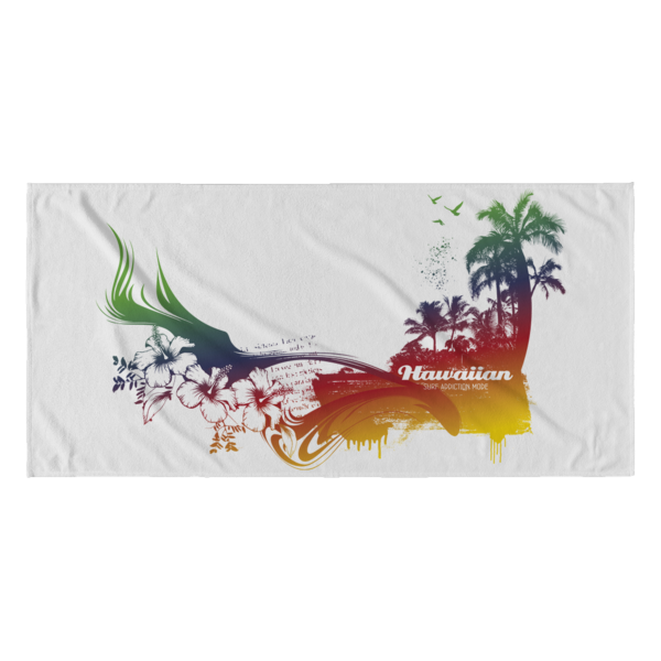 Hawaiian Beach Towel - Tea Palette