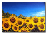Blooming Sunflowers - Painting On Canvas at INTERFRAME-ASIA