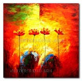 Poppies and 2 Eggs - Painting On Canvas at INTERFRAME-ASIA