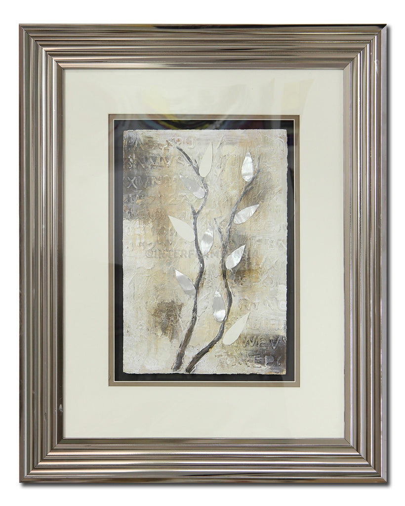 Silver Leaves (Framed)