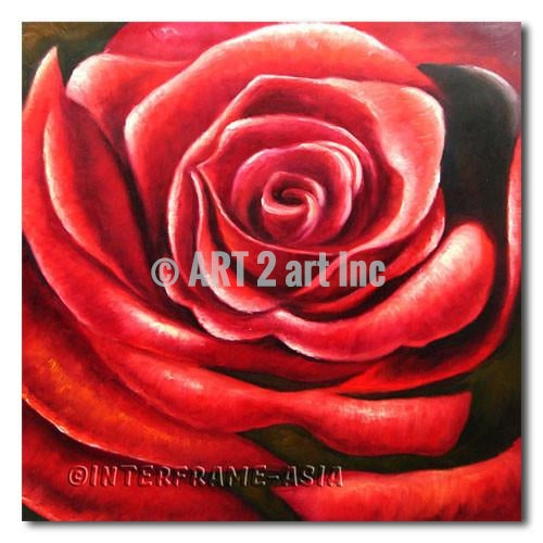 Red Charm - Painting On Canvas at INTERFRAME-ASIA
