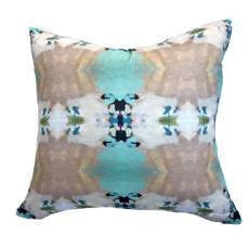 Summer Garden Faux Hide Pillow