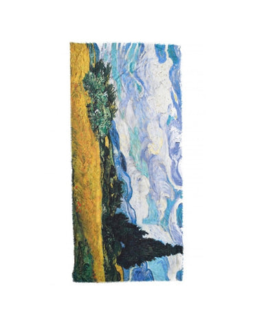 Vincent Van Gogh Wheat Field Painting Scarf