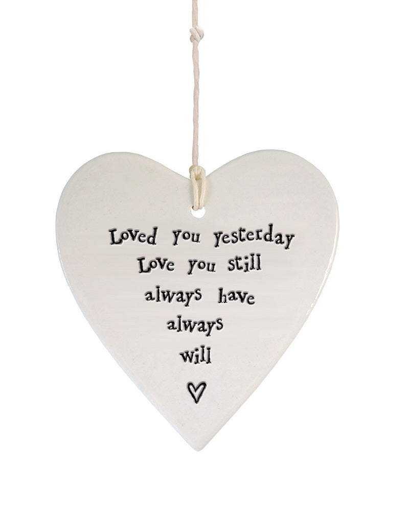 Loved you ... Hanging Heart Decoration