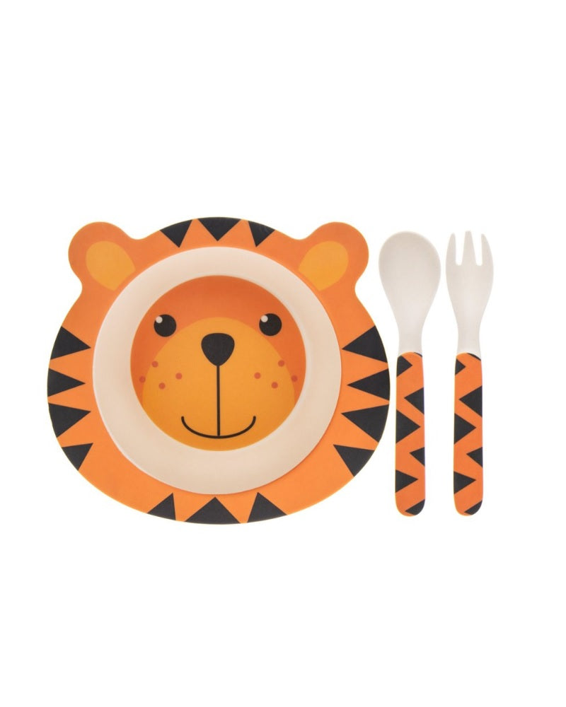 Tiger Bamboo Eco Eating Set