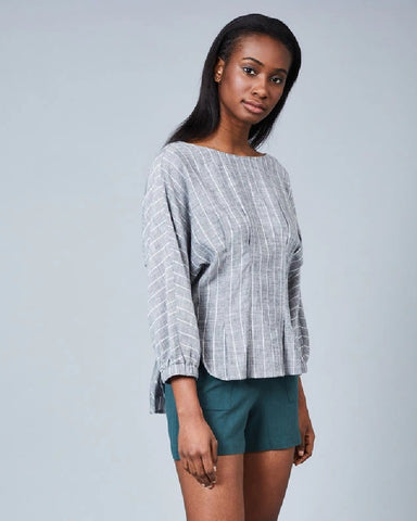 Lauryn Cotton Linen Blouse