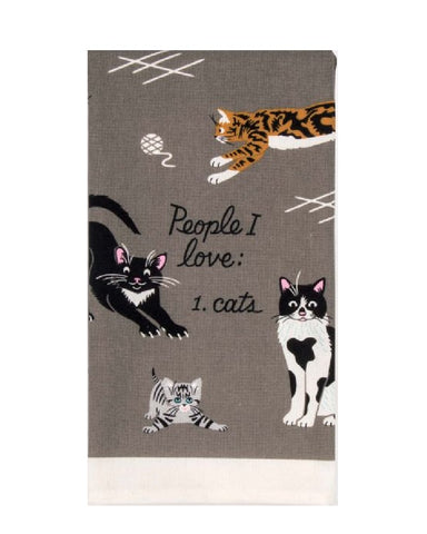 People I Like To Meet... Cats Tea Towel