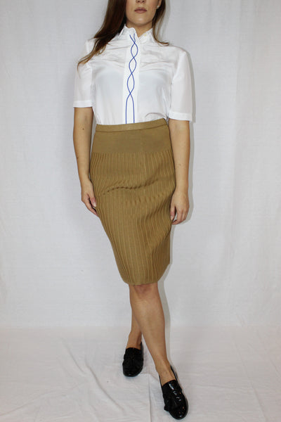 Stretchy wool skirt