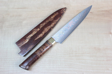 Takeshi Saji Petty Master Saji Rainbow Damascus Sakura Series Petty 135mm (5.3 inch)